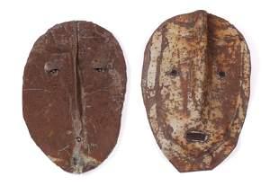 Jerry Coker (American, b. 1938) Two Identity Masks