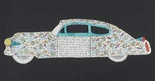 """Howard Finster (1916-2001) """"Cadalac Message"""", 1994"""