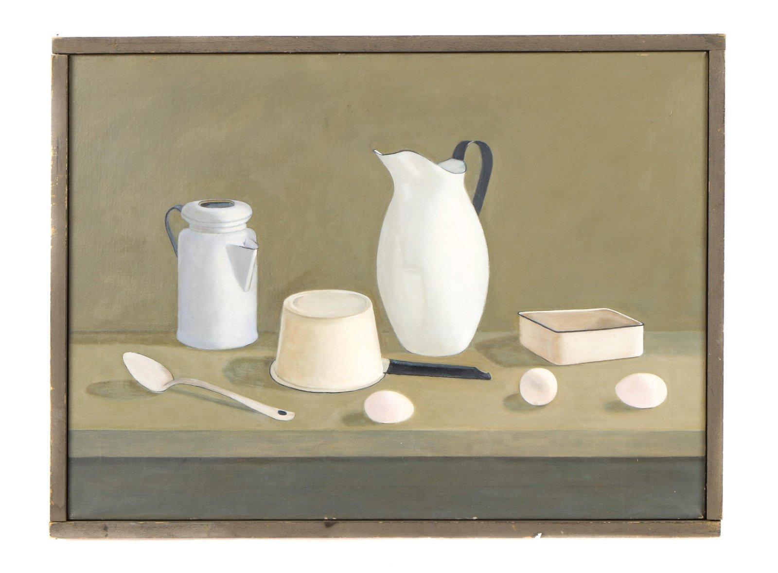 "Eva Martino (American, b. 1929) ""White Porcelain"""