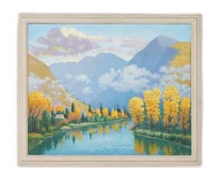 Carl Abel American 18751959 Oil Painting