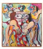 Jack Gerber (American, b. 1927) Figure Painting