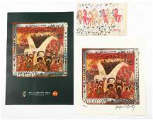 Three Purvis Young Signed Outsider Art Posters