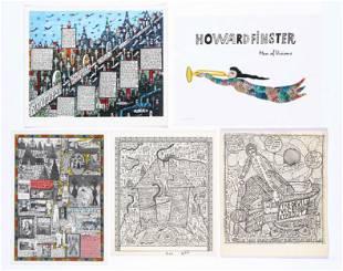 Five Howard Finster Prints