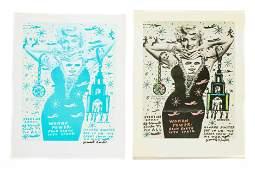 "Howard Finster (American, 1916-2001) 2 ""Woman Power"""