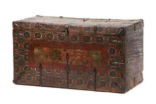 Fine Tibetan Painted Chest, 18th/19th Century