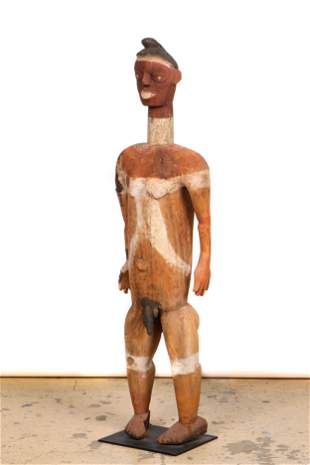 African Ibo Male Shrine Figure, Early/Mid 20th C., Ht.
