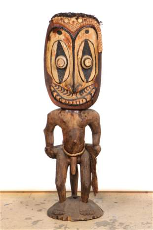 Sepik River Orator's Stool, PNG. Early/Mid 20th C., Ht.