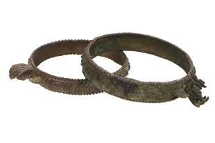 Two Antique Indian Bronze Bracelets