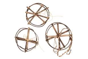 Group of Bent Wood Rings Possibly Karaja