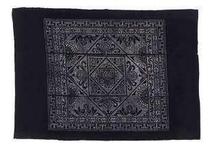 Dong Stenciled Batik Blanket China mid 20th c