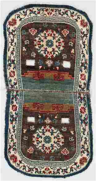 Saddle Rug, Tibet, Late 19th C., 1'11'' x 3'9''