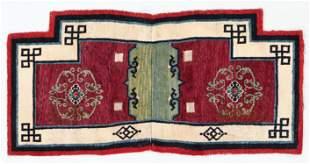 Saddle Rug, Tibet, Early 20th C., 1'10'' x 3'10''