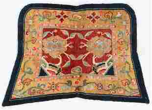 Saddle Rug, Tibet, Early 20th C., 3'1'' x 2'1''