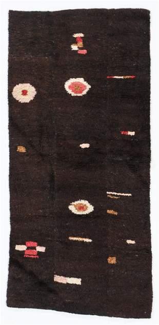 3 Panel Tsuk Truk Rug, Tibet, Early/Mid 20th C., 2'4''