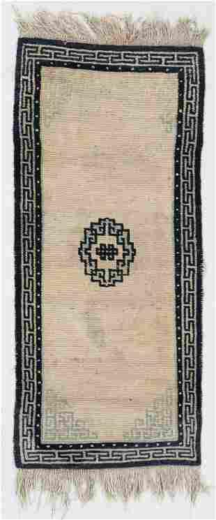 Khaden Rug, Tibet, Late 19th C., 2'5'' x 5'7'