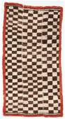 Tsuk Truk Checkerboard Rug, Tibet, Early 20th C., 2'7''