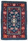 Saddle Top Rug, Tibet, Early 20th C., 1'10'' x 2'9''