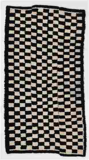 Tsuk Truk Checkerboard Rug , Tibet, Early 20th C.,