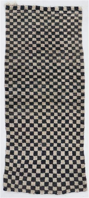 Checkerboard Rug, Tibet, Early 20th C., 2'9'' x 6'2''
