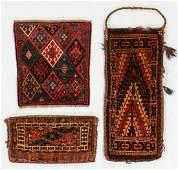 Three Antique Turkmen & Persian Kurd Weavings