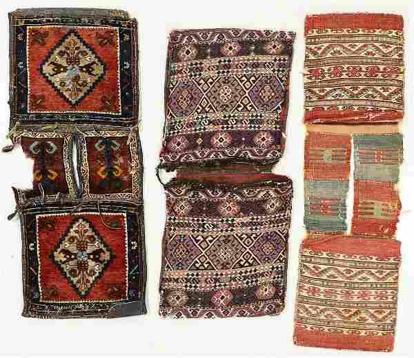 Three Antique Saddlebags/Heybe, Turkey