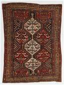 Khamseh Bird Rug, Persia, Late 19th C., 4'7'' x 6'4''
