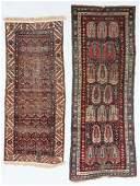 2 Antique Caucasian and Persian Rugs