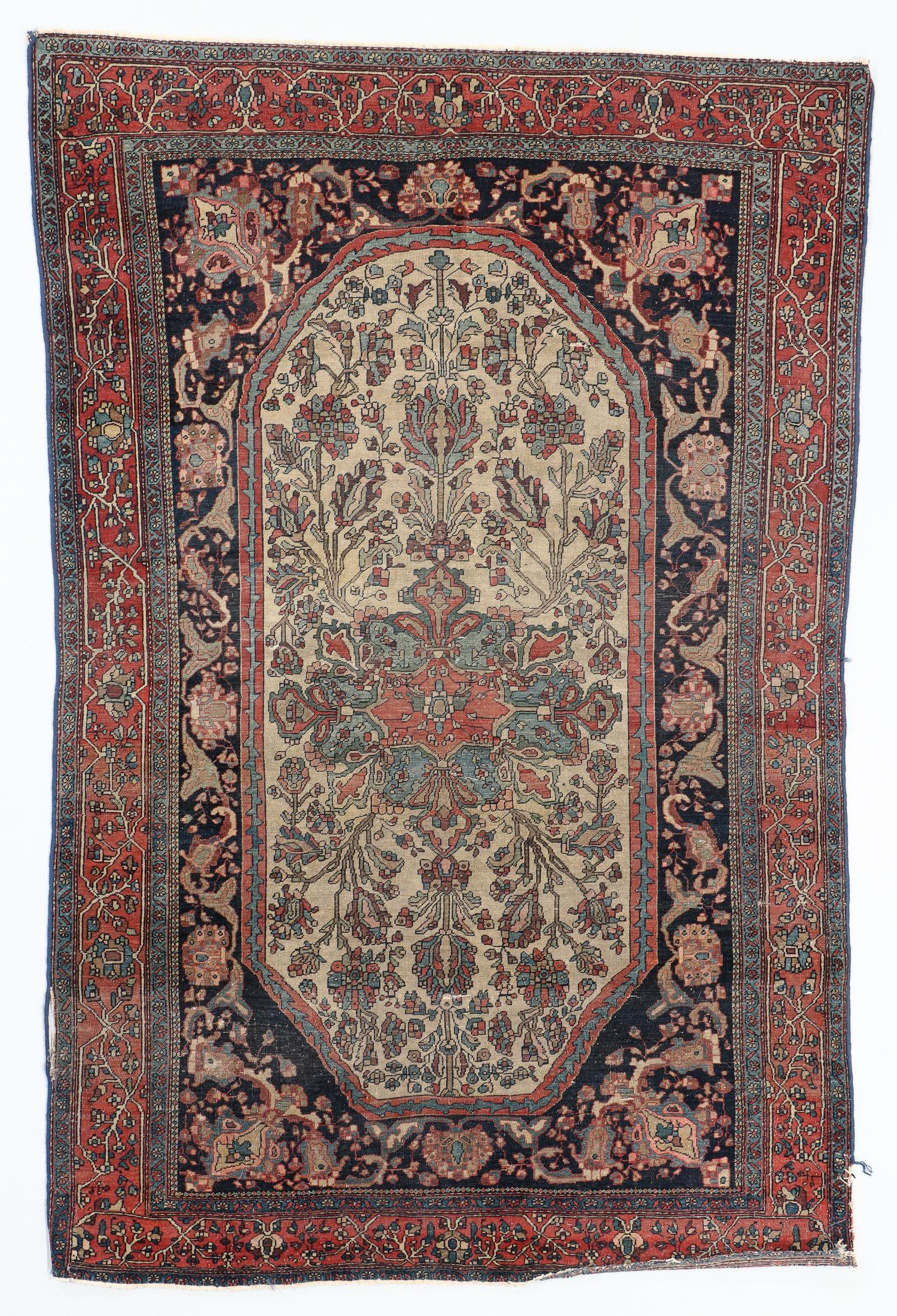 Ferahan Sarouk Rug, Persia, Late 19th C., 4'4'' x 6'6''