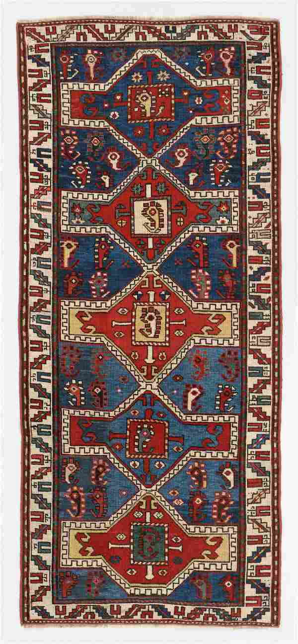 Kazak Rug, Caucasus, Circa 1900, 3'4'' x 7'7''