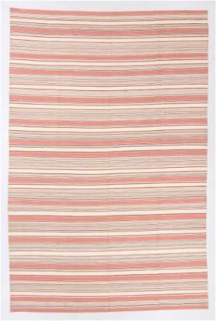 Modernist Striped Kilim, Egypt, 9'8'' x 14'6''
