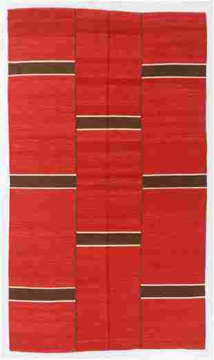 Modernist 3-Panel Kilim, Turkey, 6'5'' x 10'11''