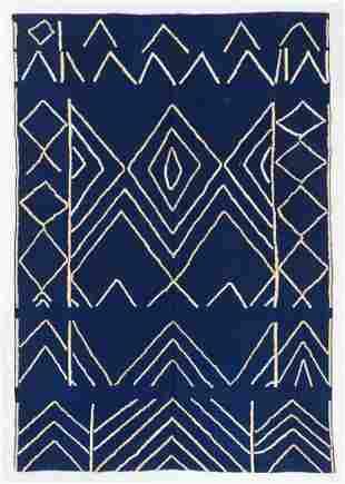 Modern Mid Century Style Kilim, Egypt, 6'5'' x 9'4''