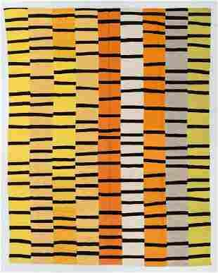 Modern Mid Century Style Kilim, Egypt, 8'11'' x 11'1''