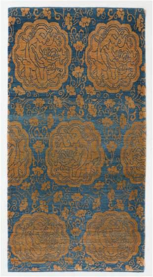 Lampas Pattern Tibetan Rug, Nepal, 3'5'' x 6'8''