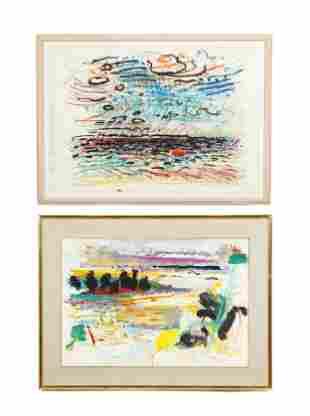 John Evans (American, b. 1945) Two Works