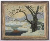 Carl Abel (American, 1875-1959) Oil Painting