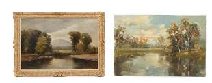 Two Oil Painting Landscapes