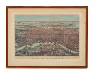 After Currier & Ives Lithograph, City of Philadelphia