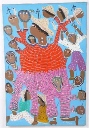 """Maxon Jean-Louis (Haitian, b. 1966) """"Deformation"""""""