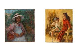 Thomas B. Jones and Montserrat Barta, 2 Paintings