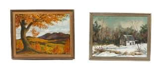 Two American School Landscape Paintings