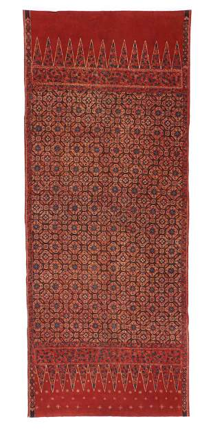 Antique Tulis Batik Skirt Cloth, Indonesia, 19th C.
