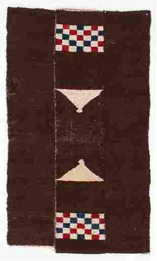 3 Panel Tsuk Truk Rug, Tibet, Early 20th C.