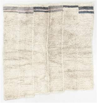 Piled Wool Rug/Blanket, Tibet, Early 20th C., 5'1'' x