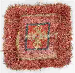 Wangden Square Rug, Tibet, Circa 1900, 3'1'' x 2'11''