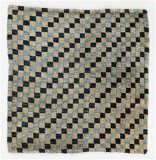 Checkerboard Rug, Tibet, Circa 1900, 2'9'' x 2'10''