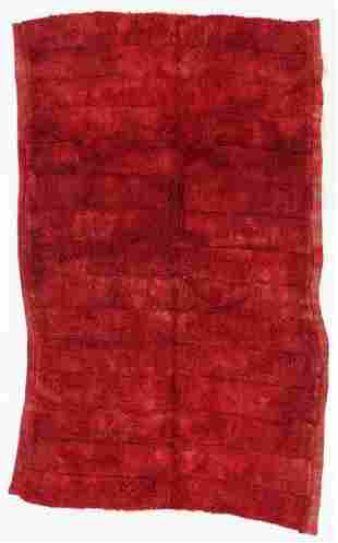 Piled Monks Robe, Tibet, Late 19th C., 6'5'' x 3'11''