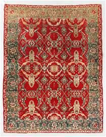 Fine Agra Rug, India, 19th C., 6'1'' x 7'8''