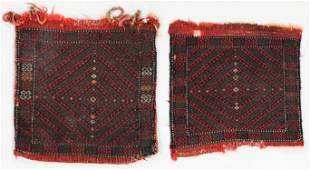 Pair of Matching Yuncu Sumak Bags, Turkey, Mid 19th C.