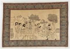 Tabriz Pictorial Rug, Persia, Circa 1900, 6'4'' x 4'4''
